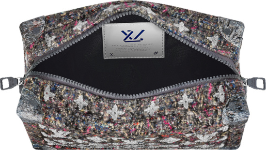Louis Vuitton Grey And Multicolor Wool Soft Trunk Bag