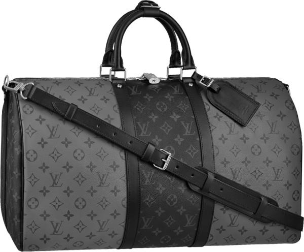 Louis Vuitton Grey And Black Split Duffle Bag