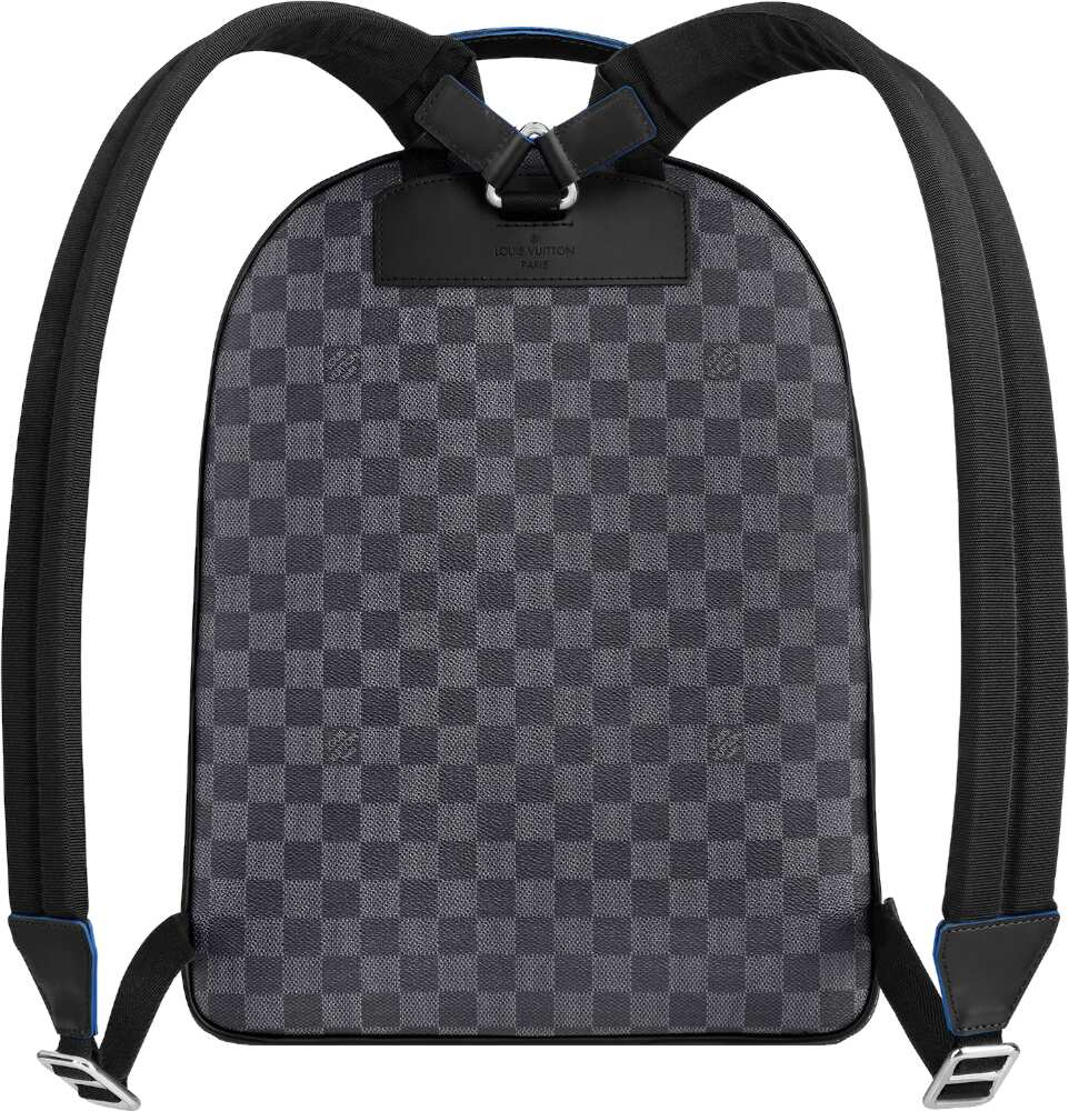 Louis Vuitton Grey Check Leather Backpack