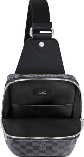 Louis Vuitton Grey Check Sling Messenger Bag