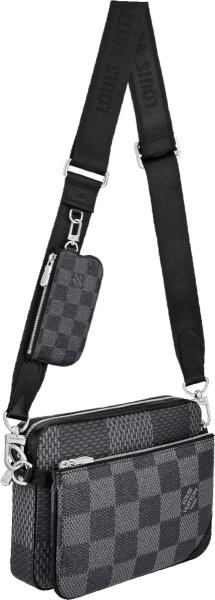 Louis Vuitton Grey Damier Trio Bags