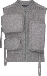 Louis Vuitton Grey Knit Utility Vest