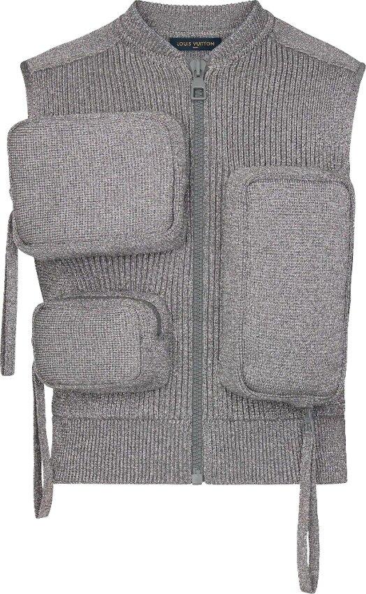 Grey Knit Utility Vest