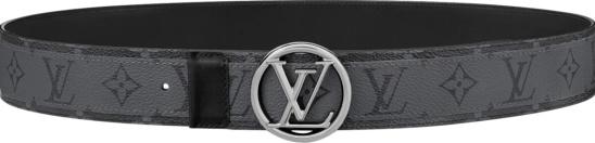 Louis Vuitton Grey Lv Circle Belt M0286t