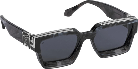 Louis Vuitton Grey Marble 1.1 Sunglasses