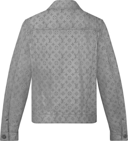 Louis Vuitton Grey Monogram Denim Jacket