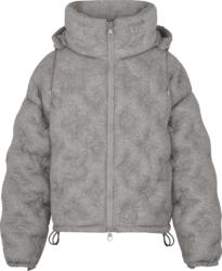 Louis Vuitton Grey Monogram Puffer Jacket