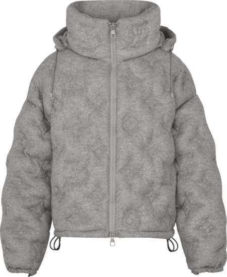 Louis Vuitton Grey Monogram Puffer Jacket