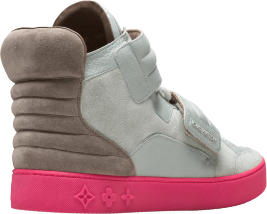 Louis Vuitton Grey Pink Brown Jasper Sneakers