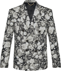 Louis Vuitton Grey Poppies Print Double Breasted Jacket