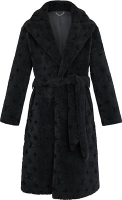 Louis Vuitton Grey Shearling Coat