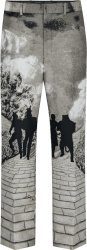 Louis Vuitton Grey Wizard Of Oz Flared Trousers