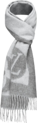 Louis Vuitton Grey Wool Cardiff Scarf