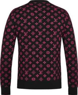 Louis Vuitton Half Monogram Pink And Black Sweater