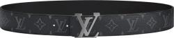 Black Eclipse Ruthenium 'LV Initiales' Belt