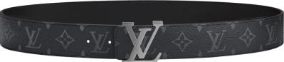 Louis Vuitton Initiales Black Monogram Print Belt