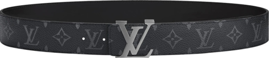 Louis Vuitton Initiales Black Monogram Print Belt