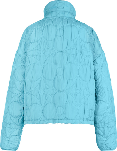Louis Vuitton Light Blue Monogram Quilted Jacket
