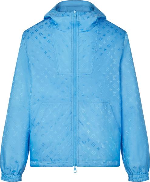 Louis Vuitton Light Blue Monogram Windbreaker