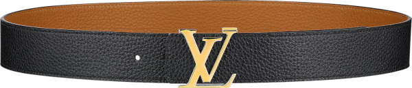 Louis Vuitton Light Brown And Gold Lv Initiales Belt M9151q