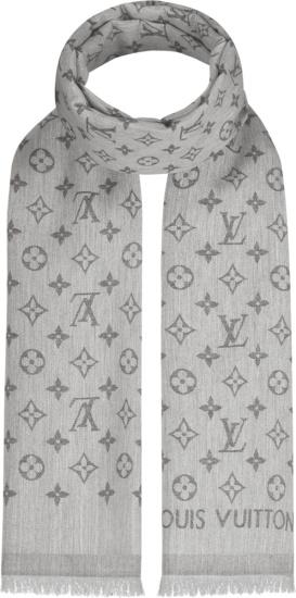 Louis Vuitton Light Grey Essential Monogram Stole