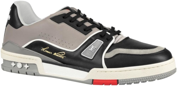 Louis Vuitton Lv Grey And Black Trainers Sneakers