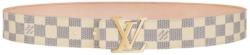 White Azur Damier 'LV Initials' Belt