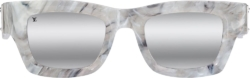 White Marble 'Charleston' Sunglasses