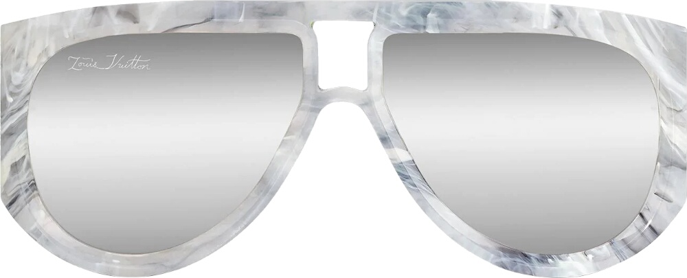 White Marble 'Selby' Sunglasses