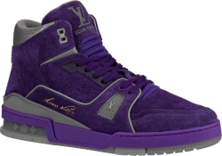 Purple Suede 'LV Trainer' Sneaker Boot