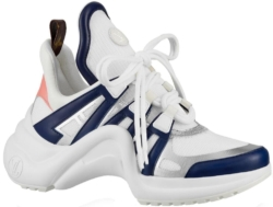 Louis Vuitton Mens White Navy And Silver Archlight Sneakers