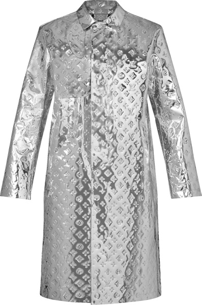 Louis Vuitton Mirror Monogram Long Rain Coat 1a970k