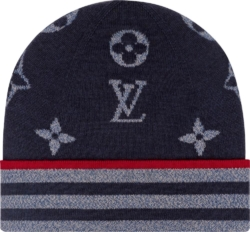 Louis Vuitton Monogram And Stripes Knit Hat