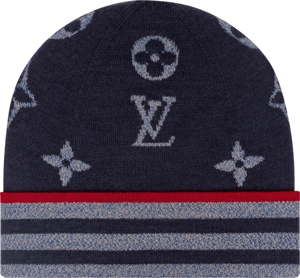 Louis Vuitton Monogram And Stripes Knit Hat
