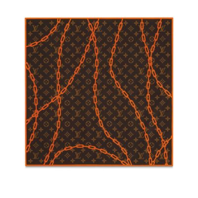 Louis Vuitton Monogram Bandana With Orange Chain Worn By Nav
