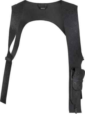 Louis Vuitton Monogram Embossed Black Cut Out Vest