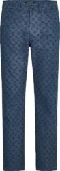 Louis Vuitton Monogram Embossed Blue Jeans