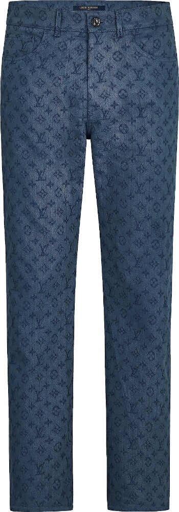 Louis Vuitton Monogram Embossed Blue Jeans