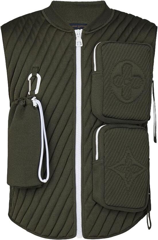 Louis Vuitton Monogram Florwer Green Utility Vest