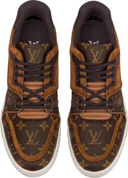 Louis Vuitton Monogram Print And Suede Sneakers