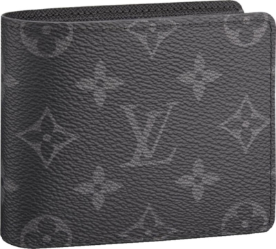 Louis Vuitton Monogram Print Black Leather Wallet