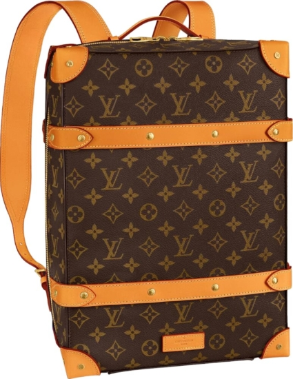 Louis Vuitton Monogram Print Brown Trunk Backback