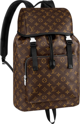 Louis Vuitton Monogram Print Brown Zack Backpack