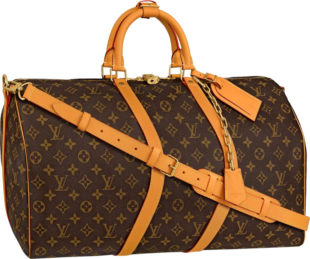 Louis Vuitton Monogram Print Leather Duffle Bag