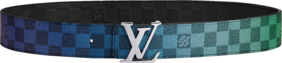 Louis Vuitton Multicolor Gradient Damier Belt M0249v