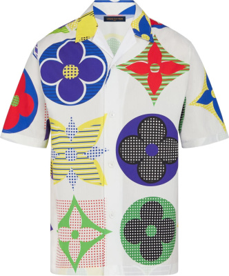 Louis Vuitton Multicolor Monogram Hawaiian Shirt