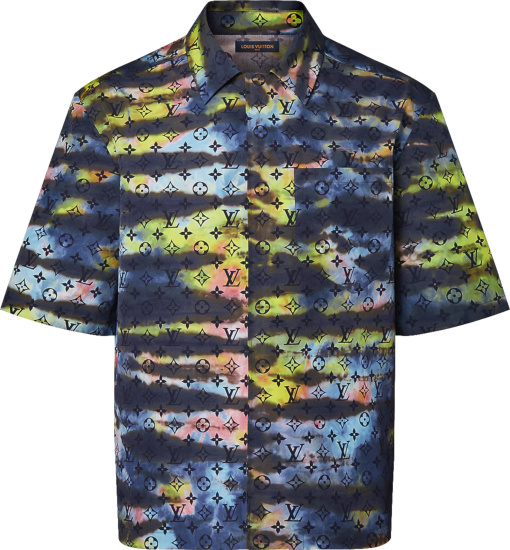 Louis Vuitton Multicolor Tie Dye Monogram Zip Shirt 1a9a2k