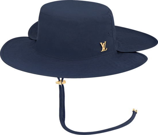 Louis Vuitton Navy Blue Lv Hiker Hat Mp2895