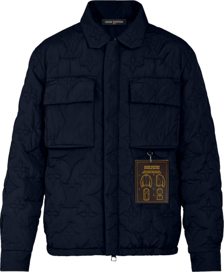 Louis Vuitton Navy Monogram Padded Blouson 1a5vam