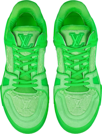 Louis Vuitton Neon Green Lv Trainer Sneakers